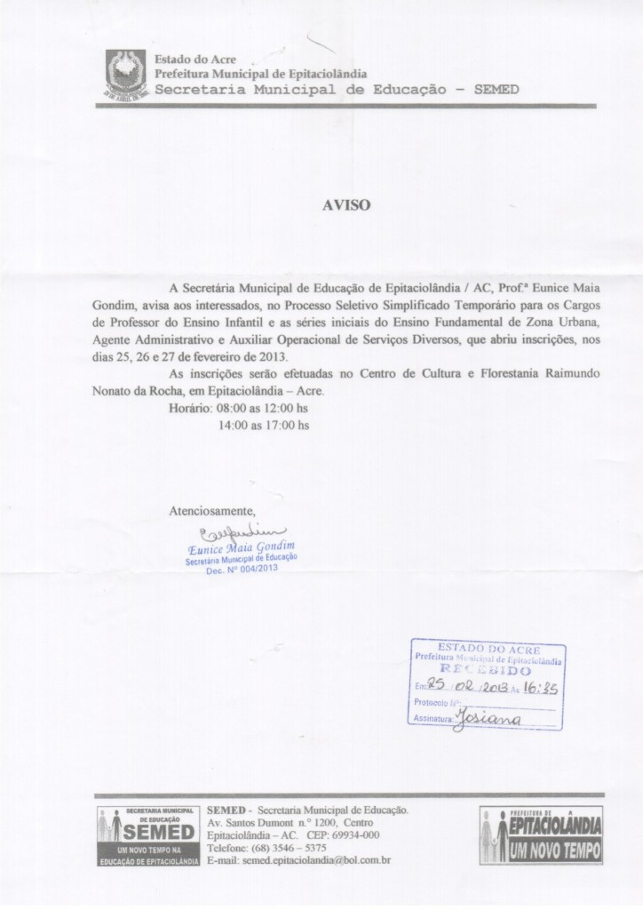 documento educacao epitacio